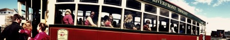Panorama shot taken on the day of the trolley's 500,000 boarding.