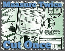 Retro vintage plans Measure Once